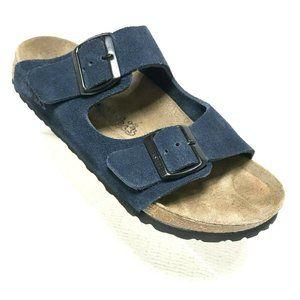 NEW BIRKIS Birkenstock Arizona Sandals Blue Suede